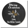 Pine Cones - Round Personalized Christmas Sticker Labels thumbnail