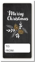 Pine Cones - Custom Rectangle Christmas Sticker/Labels
