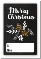 Pine Cones - Custom Large Rectangle Christmas Sticker/Labels
