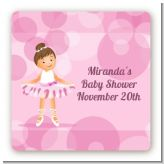 Ballet Dancer - Square Personalized Birthday Party Sticker Labels