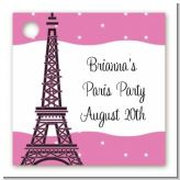Pink Poodle in Paris - Personalized Birthday Party Card Stock Favor Tags