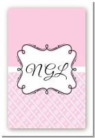 Modern Thatch Pink - Personalized Everyday Party Large Rectangle Sticker/Labels