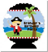 Pirate - Personalized Birthday Party Centerpiece Stand