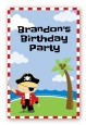 Pirate - Custom Large Rectangle Birthday Party Sticker/Labels thumbnail