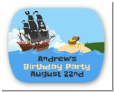 Pirate Ship - Personalized Birthday Party Rounded Corner Stickers