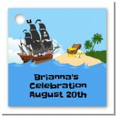 Pirate Ship - Personalized Baby Shower Card Stock Favor Tags