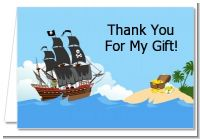 Pirate Ship - Birthday Party Thank You Cards