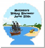 Pirate Ship - Personalized Baby Shower Centerpiece Stand