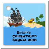 Pirate Ship - Personalized Birthday Party Card Stock Favor Tags