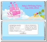 Pirate Ship Girl - Personalized Birthday Party Candy Bar Wrappers