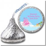 Pirate Ship Girl - Hershey Kiss Birthday Party Sticker Labels