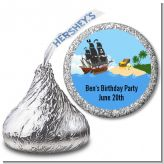 Pirate Ship - Hershey Kiss Baby Shower Sticker Labels