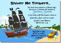 Pirate Ship - Baby Shower Invitations