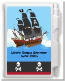 Pirate Ship - Baby Shower Personalized Notebook Favor