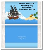 Pirate Ship - Personalized Popcorn Wrapper Baby Shower Favors