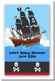 Pirate Ship - Custom Large Rectangle Baby Shower Sticker/Labels