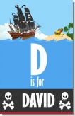 Pirate Ship - Personalized Baby Shower Nursery Wall Art