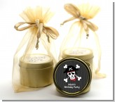 Pirate Skull - Birthday Party Gold Tin Candle Favors
