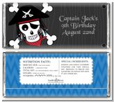 Pirate Skull - Personalized Birthday Party Candy Bar Wrappers