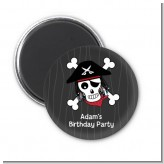 Pirate Skull - Personalized Birthday Party Magnet Favors