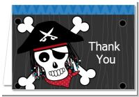 Pirate Skull - Birthday Party Thank You Cards