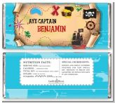Pirate Treasure Map - Personalized Birthday Party Candy Bar Wrappers