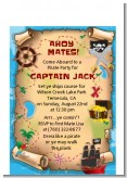 Pirate Treasure Map - Birthday Party Petite Invitations