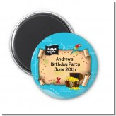 Pirate Treasure Map - Personalized Birthday Party Magnet Favors