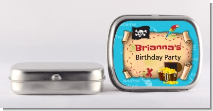 Pirate Treasure Map - Personalized Birthday Party Mint Tins