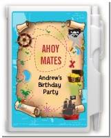 Pirate Treasure Map - Birthday Party Personalized Notebook Favor