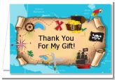 Pirate Treasure Map - Birthday Party Thank You Cards