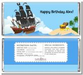 Pirate Ship - Personalized Birthday Party Candy Bar Wrappers
