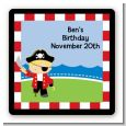 Pirate - Square Personalized Birthday Party Sticker Labels thumbnail