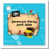 Pirate Treasure Map - Personalized Birthday Party Card Stock Favor Tags