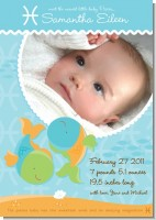 Fish | Pisces Horoscope - Birth Announcement Photo Card