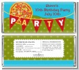 Pizza Party - Personalized Birthday Party Candy Bar Wrappers thumbnail