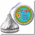 Pizza Party - Hershey Kiss Birthday Party Sticker Labels thumbnail