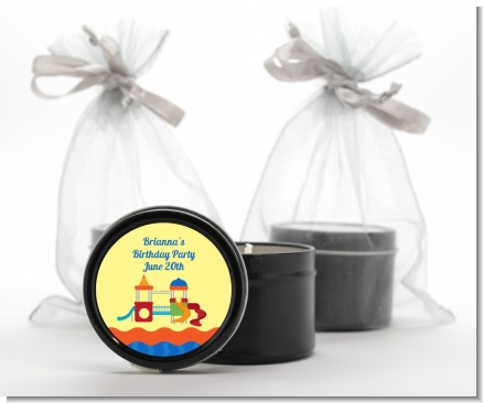Playground - Birthday Party Black Candle Tin Favors