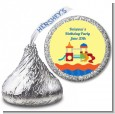 Playground - Hershey Kiss Birthday Party Sticker Labels thumbnail