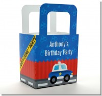 Police Car - Personalized Birthday Party Favor Boxes