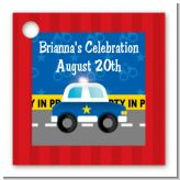 Police Car - Personalized Baby Shower Card Stock Favor Tags