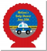 Police Car - Personalized Baby Shower Centerpiece Stand