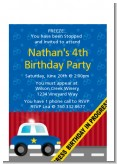 Police Car - Baby Shower Petite Invitations
