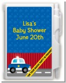 Police Car - Baby Shower Personalized Notebook Favor