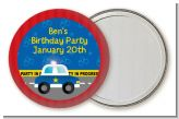 Police Car - Personalized Birthday Party Pocket Mirror Favors