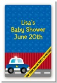 Police Car - Custom Large Rectangle Baby Shower Sticker/Labels
