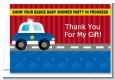 Police Car - Birthday Party Thank You Cards thumbnail