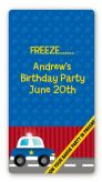 Police Car - Custom Rectangle Birthday Party Sticker/Labels