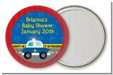 Police Car - Personalized Baby Shower Pocket Mirror Favors