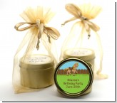 Pony Brown - Birthday Party Gold Tin Candle Favors